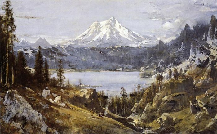 Mount Shasta from Castle Lake, 1888  Painting Reproductions