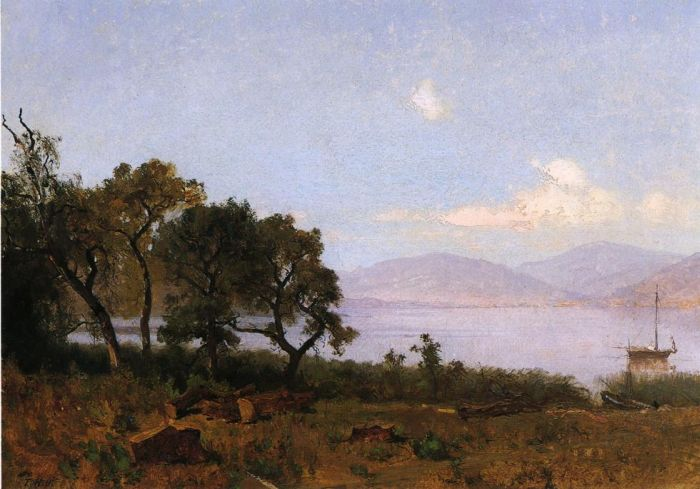 Morning, Clear Lake, 1876 Hill, Thomas Painting Reproductions