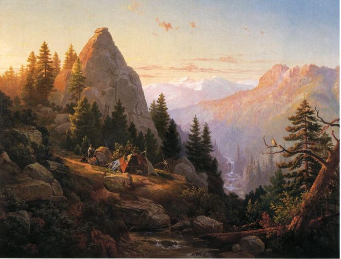 Sugar Loaf Peak, El Dorado County , 1865  Painting Reproductions