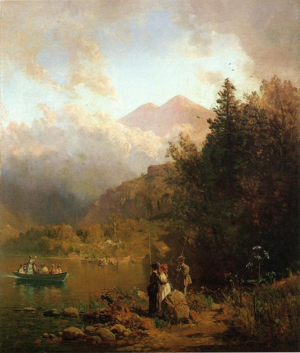 Fishing Party in the Mountains, 1872  Painting Reproductions