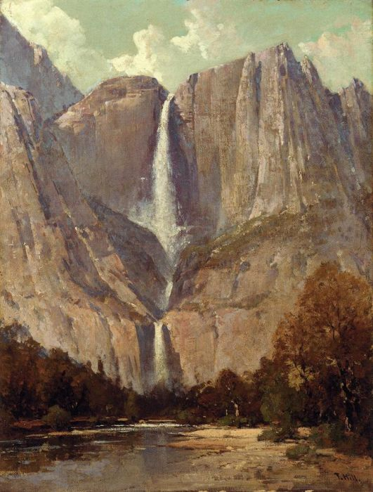Bridle Veil Fall, Yosemite  Painting Reproductions