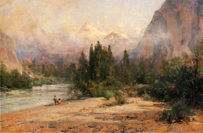 Bow River Gap at Banff, on Canadian Pacific Railroad  Painting Reproductions