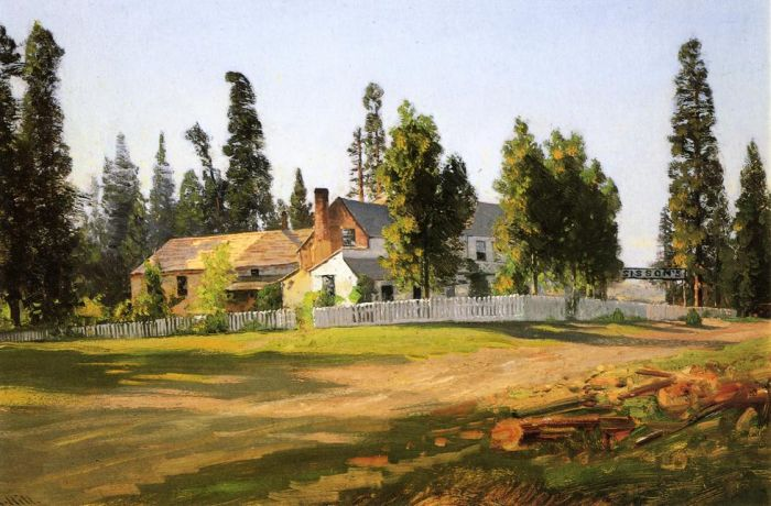Sisson's Inn, near Mount Shasta Hill, Thomas Painting Reproductions