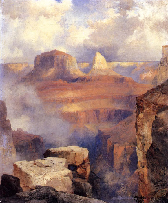 Thomas Moran Paintings, Hand Painted on canvas