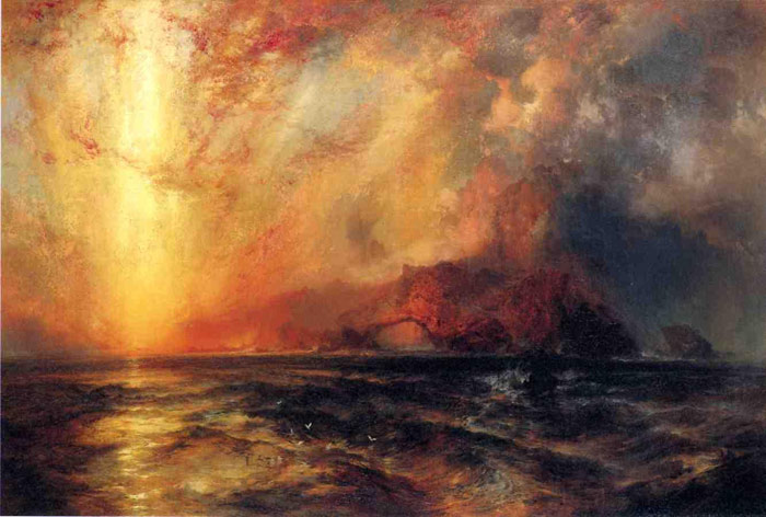 Fiercely the Red Sun Descending, Burned His Way across the Heavens, c.1875  Painting Reproductions