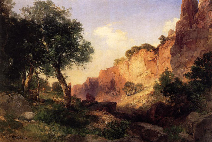The Grand Canyon - Hance Trail, 1904  Painting Reproductions