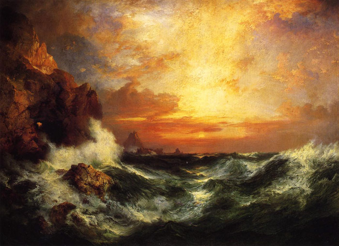 Sunset near Land's End, Cornwall, England, 1909  Painting Reproductions