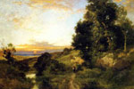 Moran, Thomas A Late Afternoon in Summer, 1909 Art Reproductions