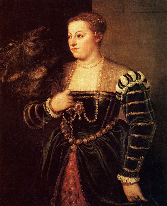 Titian's Daughter, Lavinia, 1560-1561  Painting Reproductions
