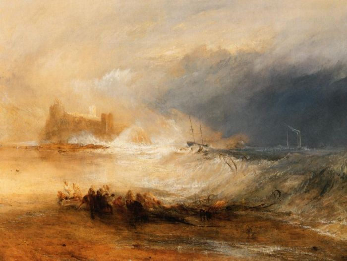Wreckers - Coast of Northumberland, 1834  Painting Reproductions