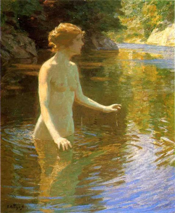 Enchanted Pool Twachtman, John Painting Reproductions