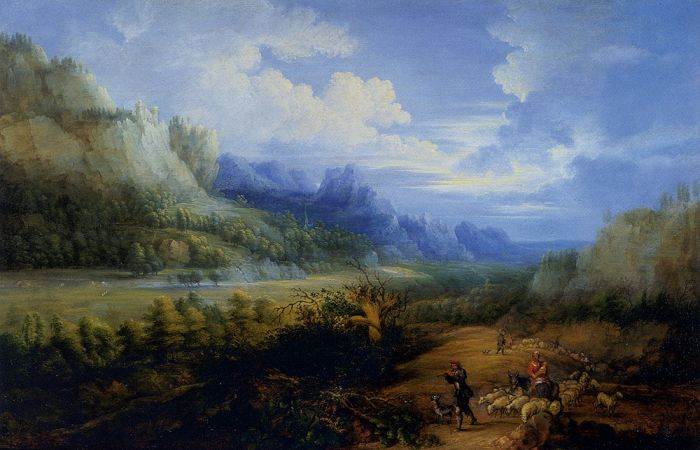 Landscape With Herdsmen And Their Sheep, 1651  Painting Reproductions