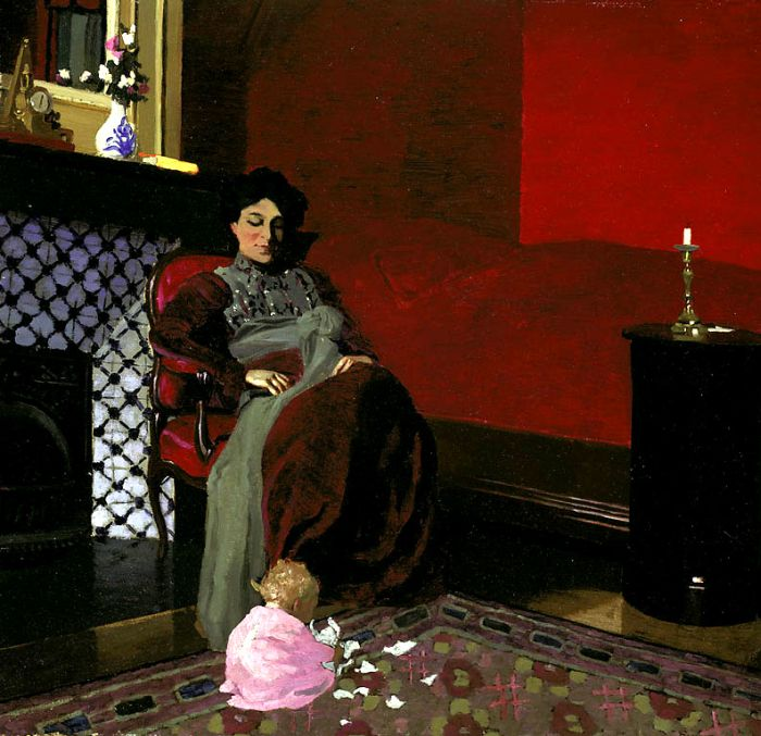 Madame Vallotton and her Niece, Germaine Aghion, 1899  Painting Reproductions