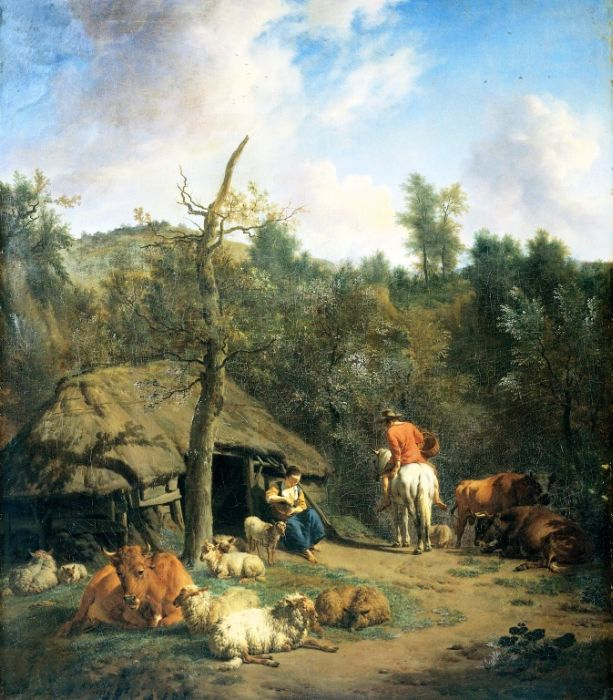 The Hut, 1671  Painting Reproductions