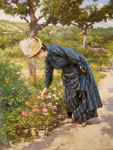 Gilbert, Victor Gabriel Lady in a Garden, 1887 Art Reproductions