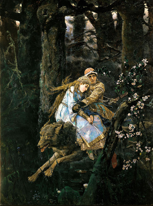 Ivan Zarevic riding the Gray Wolf. 1889  Painting Reproductions