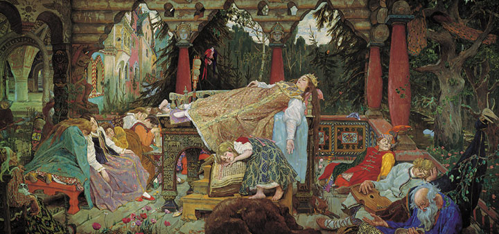Sleeping Tsarina. 1900- 1926  Painting Reproductions