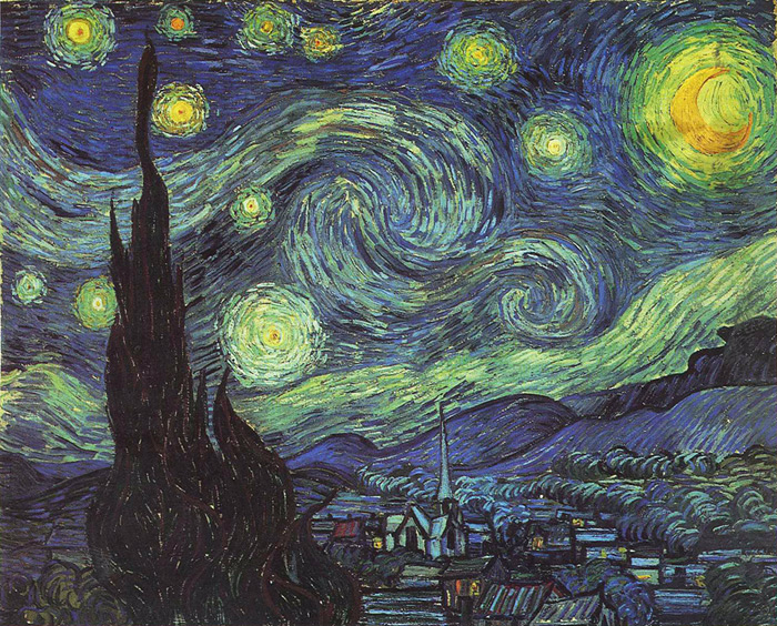 Starry Night, 1889 Vincent van Gogh Painting Reproductions