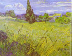 Vincent van Gogh  Wheat Field with Cypress. Saint-Remy, 1889 Art Reproductions