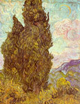 Vincent van Gogh Two Cypresses, 1889 Art Reproductions