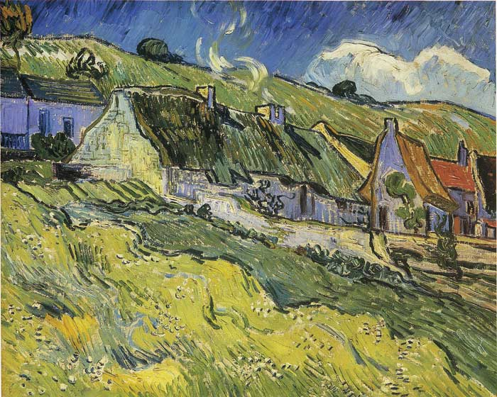 Oil Painting Reproduction of Vincent van Gogh - Cottages