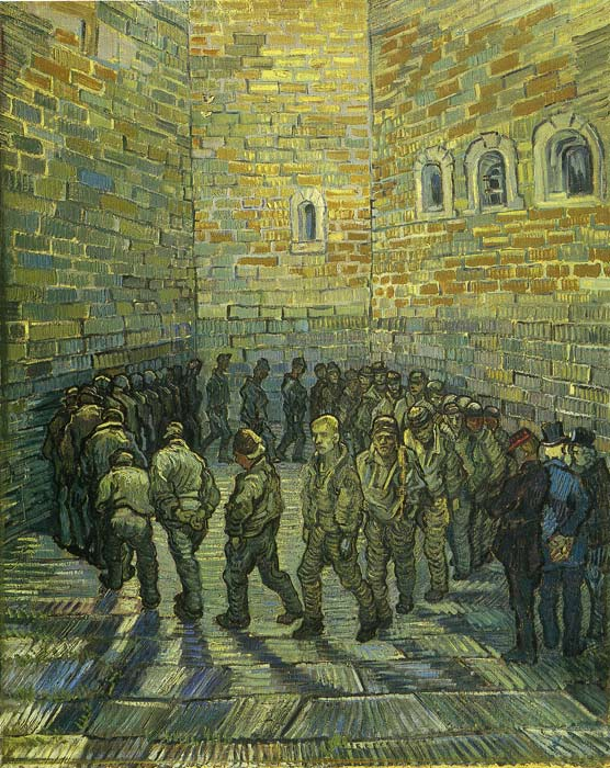 The Prison Courtyard, (1890) Vincent van Gogh Painting Reproductions