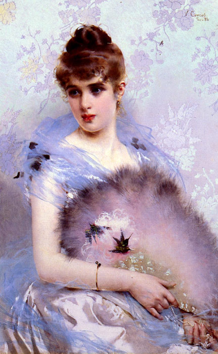 The Feathered Fan, 1884  Painting Reproductions