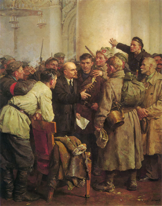 In the Smolnii, 1957  Painting Reproductions