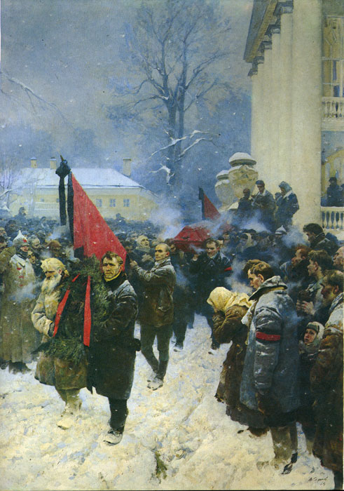 Lenin's Funeral, 1962-1964  Painting Reproductions