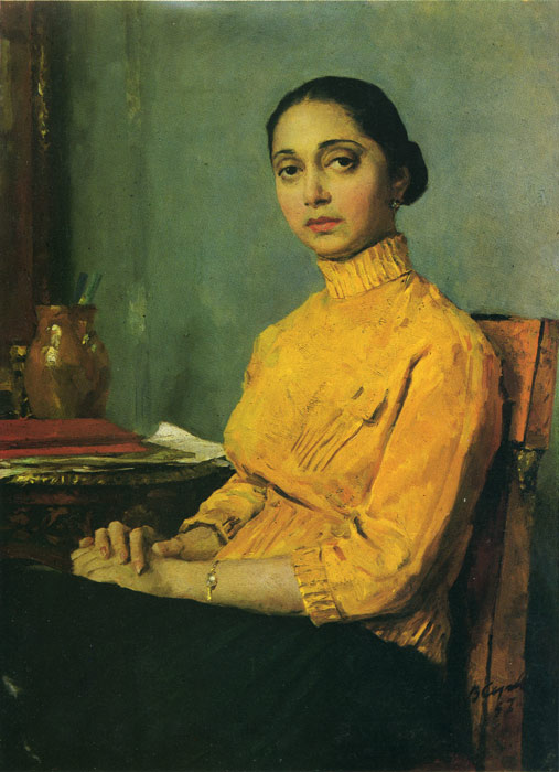 Portrait of a Woman in Yellow, 1957  Painting Reproductions
