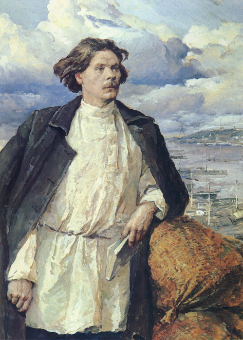 Gorki on the Volga River, 1950  Painting Reproductions