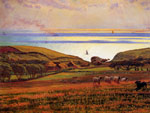 Hunt, Wiliam Holman Fairlight Downs, Sunlight on the Sea Art Reproductions