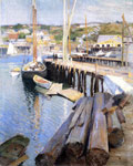Metcalf, Willard Leroy Fish Wharves - Gloucester, 1896 Art Reproductions