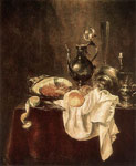 Reproductions Heda, Willem Claesz Ham and Silverware, 1649