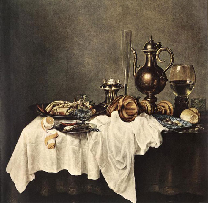 Breakfast of Crab, 1648 Heda, Willem Claesz Painting Reproductions