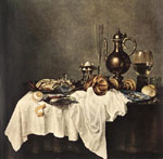 Reproductions Heda, Willem Claesz Breakfast of Crab, 1648