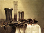 Reproductions Heda, Willem Claesz Breakfast Still-Life, 1637