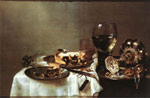 Reproductions Heda, Willem Claesz Breakfast Table with Blackberry Pie, 1631
