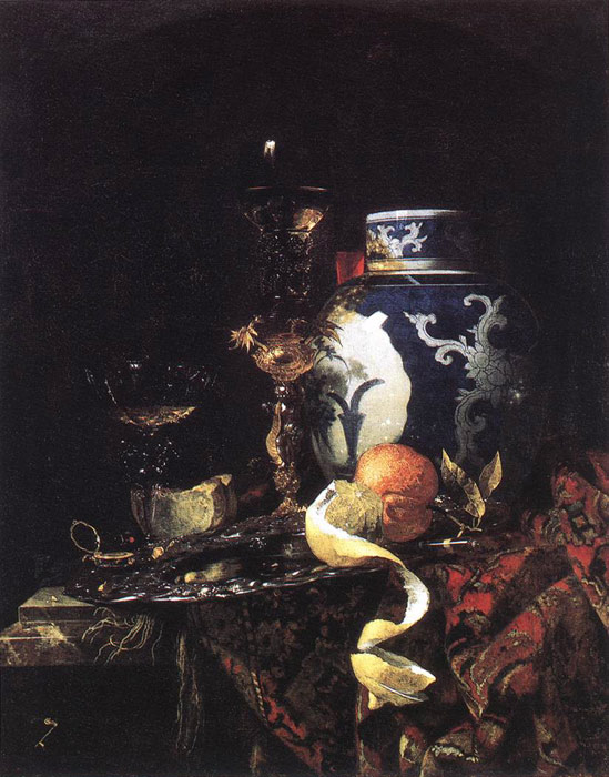 Still-Life with a Late Ming Ginger Jar, 1669  Painting Reproductions