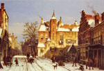 4727 A Dutch Village In Winter Art Reproductions