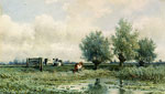 Roelofs, Willem A Summer Landscape With Grazing Cows Art Reproductions