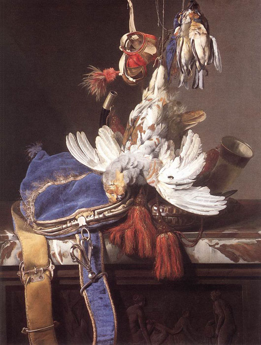 Hunting Still-Life, 1665  Painting Reproductions
