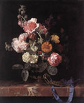 37 Vase of Flowers with Watch, 1656 Art Reproductions