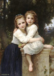 Bouguereau, William Deux Soeurs [Two Sisters], 1901 Art Reproductions