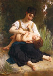Bouguereau, William The Joys of Motherhood (Girl Tickling a Child), 1878 Art Reproductions