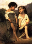 Bouguereau, William Au Bord du Ruisseau [At the Edge of the Brook], 1879 Art Reproductions