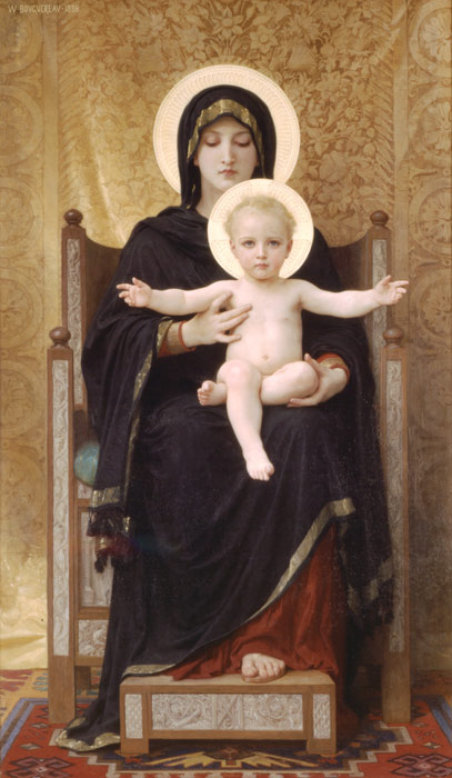 Madone Assise [The Seated Madonna], 1888  Painting Reproductions
