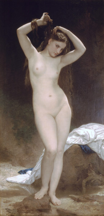 Baigneuse [Bather], 1870 Bouguereau, William Painting Reproductions