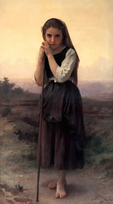 Petite Bergere [Little Shepherdess], 1891  Painting Reproductions