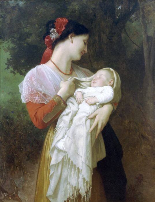 Admiration Maternelle [Maternal Admiration], 1869  Painting Reproductions